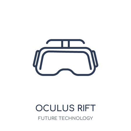 Oculus rift icon. Oculus rift linear symbol design from Future technology collection. Stock Vector - 111821933