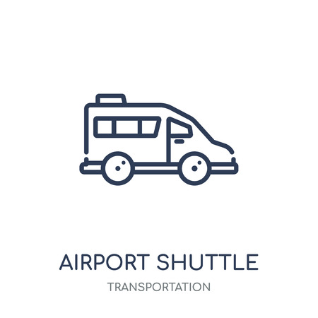 airport shuttle icon. airport shuttle linear symbol design from Transportation collection.