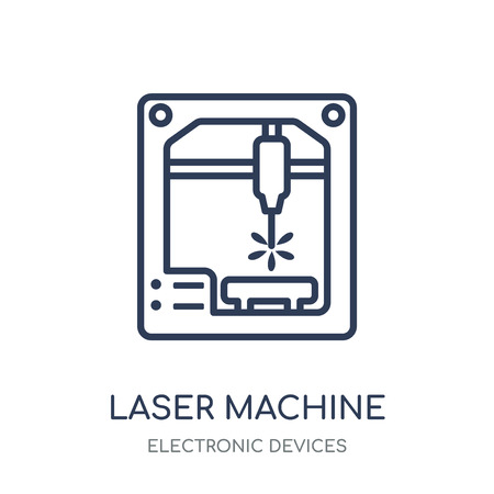 Laser Machine icon. Laser Machine linear symbol design from Electronic devices collection.