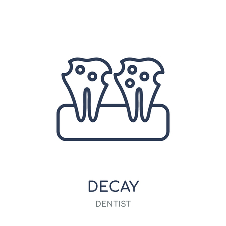 Decay icon. Decay linear symbol design from Dentist collection. Simple outline element vector illustration on white background.