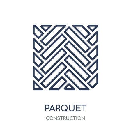 Parquet icon. Parquet linear symbol design from Construction collection. Simple outline element vector illustration on white background.  イラスト・ベクター素材