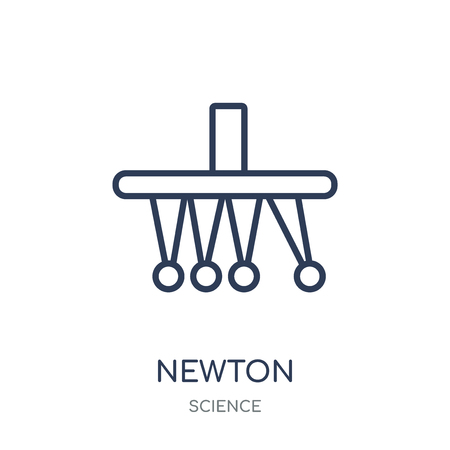 Newton icon. Newton linear symbol design from Science collection. Simple outline element vector illustration on white background. Stock Vector - 111821858
