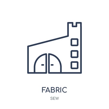 Fabric icon. Fabric linear symbol design from Sew collection. Simple outline element vector illustration on white background.
