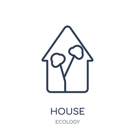 Greenhouse icon. Greenhouse linear symbol design from Ecology collection. Simple outline element vector illustration on white background. Stock Illustratie