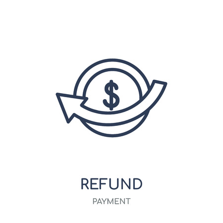 Refund icon. Refund linear symbol design from Payment collection. Simple outline element vector illustration on white background.