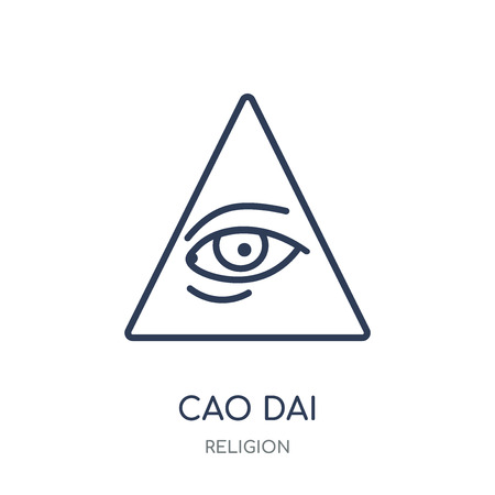 Cao dai icon. Cao dai linear symbol design from Religion collection. Simple outline element vector illustration on white background. Illustration