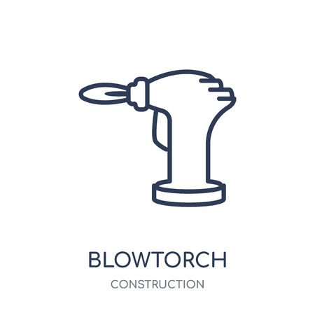 blowtorch icon. blowtorch linear symbol design from Construction collection. Simple outline element vector illustration on white background. Vector Illustration