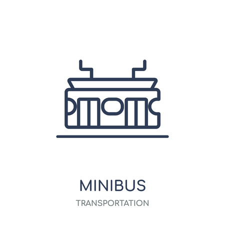 Minibus icon. Minibus linear symbol design from Transportation collection. Illustration