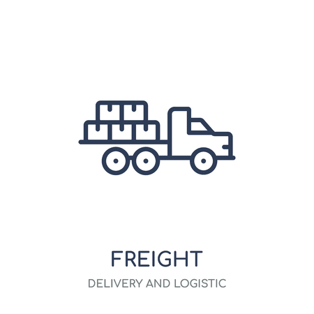 Freight icon. Freight linear symbol design from Delivery and logistic collection.