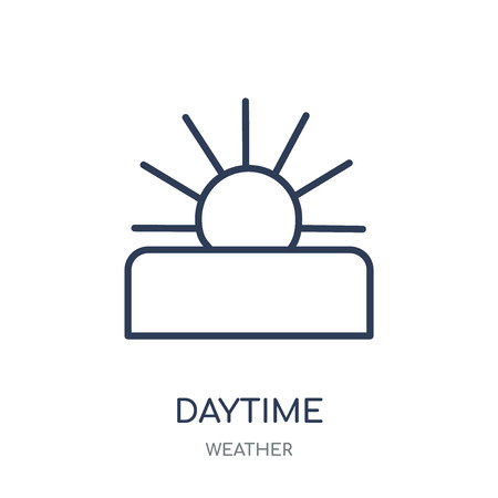 Daytime icon. Daytime linear symbol design from Weather collection. Simple outline element vector illustration on white background.