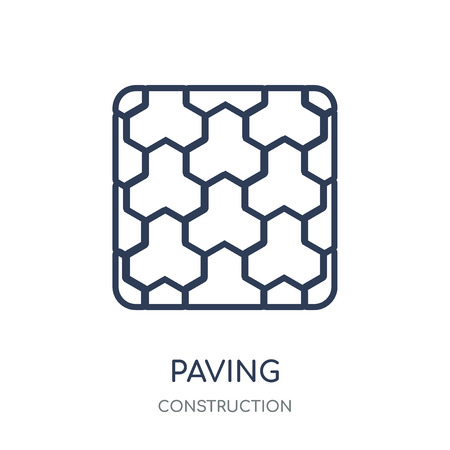 Paving icon. Paving linear symbol design from Construction collection. Simple outline element vector illustration on white background. Illustration