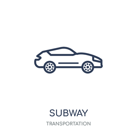 Subway icon. Subway linear symbol design from Transportation collection. Illustration