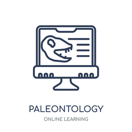 Paleontology icon. Paleontology linear symbol design from Online learning collection.