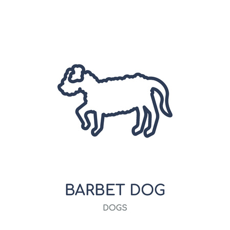 Barbet dog icon. Barbet dog linear symbol design from Dogs collection. Simple outline element vector illustration on white background.