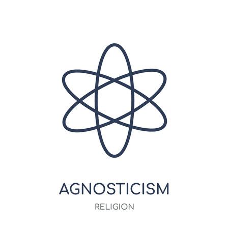 agnosticism icon. agnosticism linear symbol design from Religion collection. Simple outline element vector illustration on white background.
