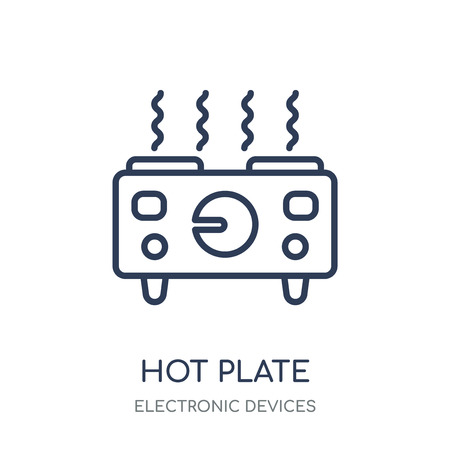 hot plate icon. hot plate linear symbol design from Electronic devices collection.
