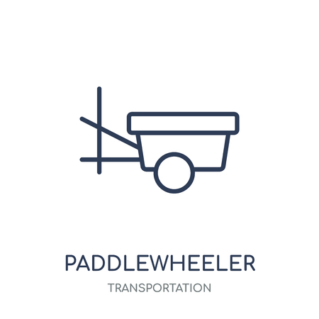 paddlewheeler icon. paddlewheeler linear symbol design from Transportation collection.
