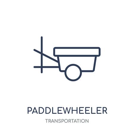 paddlewheeler icon. paddlewheeler linear symbol design from Transportation collection. Illustration