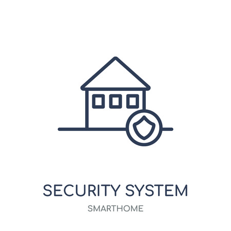 Security system icon. Security system linear symbol design from Smarthome collection. Simple outline element vector illustration on white background.