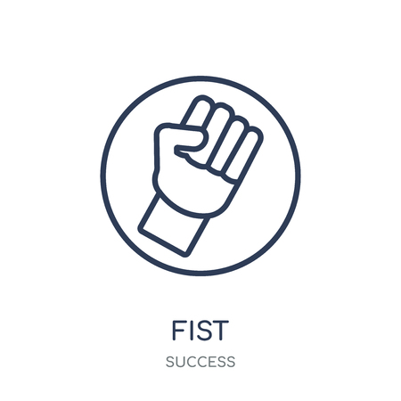 Fist icon. Fist linear symbol design from Success collection. Simple outline element vector illustration on white background.