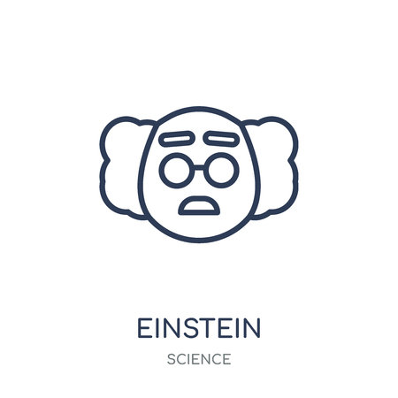Einstein icon. Einstein linear symbol design from Science collection. Simple outline element vector illustration on white background.