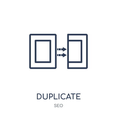 Duplicate icon. Duplicate linear symbol design from SEO collection. Simple outline element vector illustration on white background.