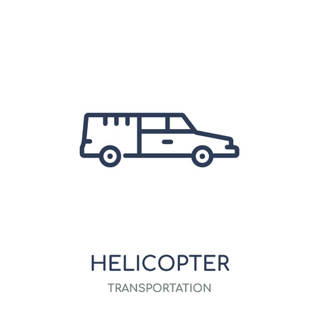 Helicopter icon. Helicopter linear symbol design from Transportation collection.