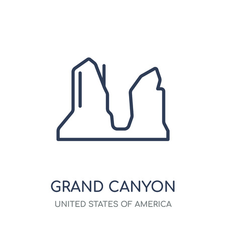 Grand canyon icon. Grand canyon linear symbol design from United states of america collection. Simple outline element vector illustration on white background. Illustration