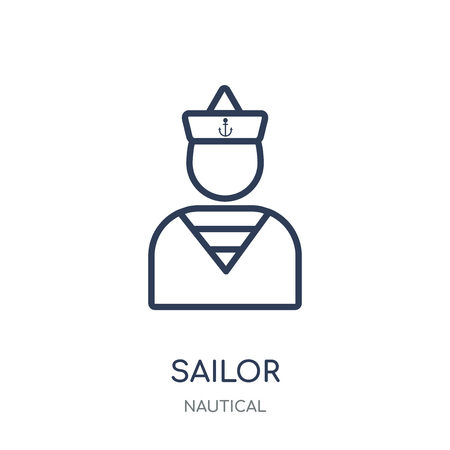 Sailor icon. Sailor linear symbol design from Nautical collection. Simple outline element vector illustration on white background.