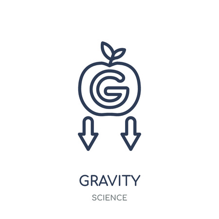 Gravity icon. Gravity linear symbol design from Science collection. Simple outline element vector illustration on white background.