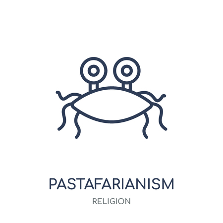 Pastafarianism icon. Pastafarianism linear symbol design from Religion collection. Simple outline element vector illustration on white background. Illustration