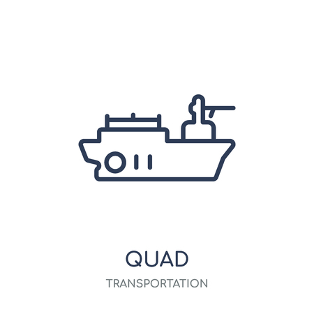 Quad icon. Quad linear symbol design from Transportation collection.