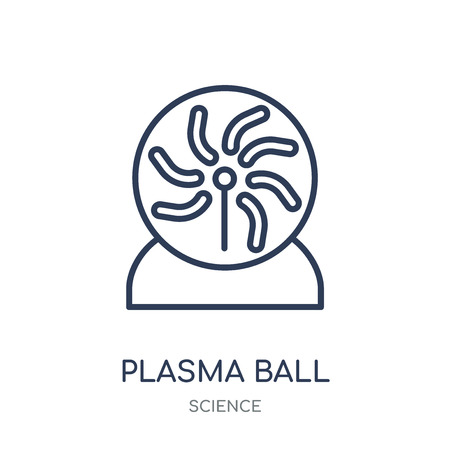 Plasma ball icon. Plasma ball linear symbol design from Science collection. Simple outline element vector illustration on white background.