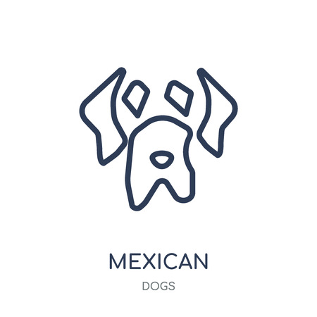 Mexican Hairless Dog dog icon. Mexican Hairless Dog dog linear symbol design from Dogs collection. Simple outline element vector illustration on white background.