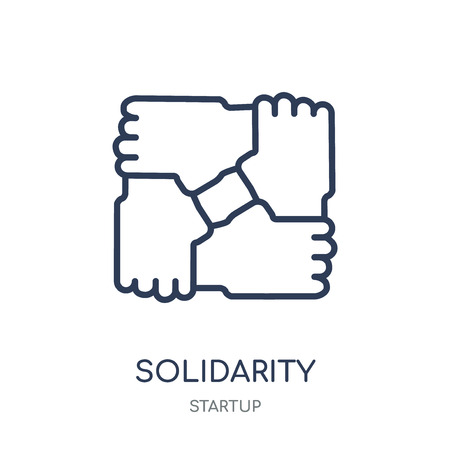 Solidarity icon. Solidarity linear symbol design from Startup collection. Simple outline element vector illustration on white background. Illustration