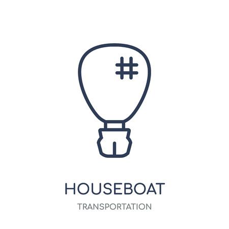 houseboat icon. houseboat linear symbol design from Transportation collection. Ilustração