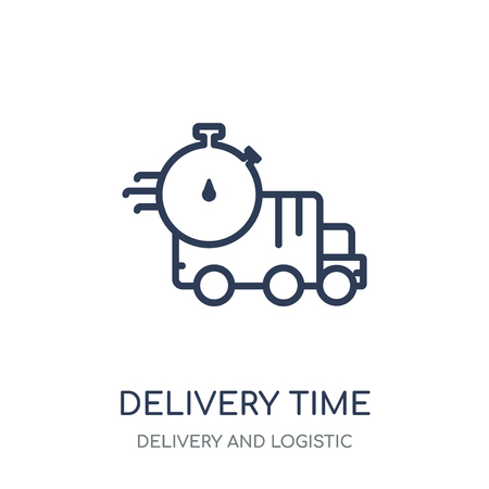 Delivery Time icon. Delivery Time linear symbol design from Delivery and logistic collection.