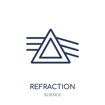 Refraction icon. Refraction linear symbol design from Science collection. Simple outline element vector illustration on white background.
