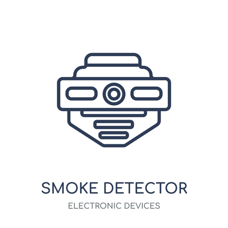 smoke detector icon. smoke detector linear symbol design from Electronic devices collection.