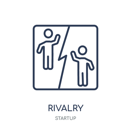 Rivalry icon. Rivalry linear symbol design from Startup collection. Simple outline element vector illustration on white background. Illustration
