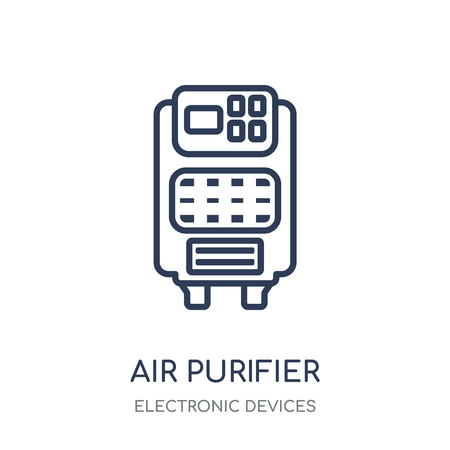 Air purifier icon. Air purifier linear symbol design from Electronic devices collection. Иллюстрация