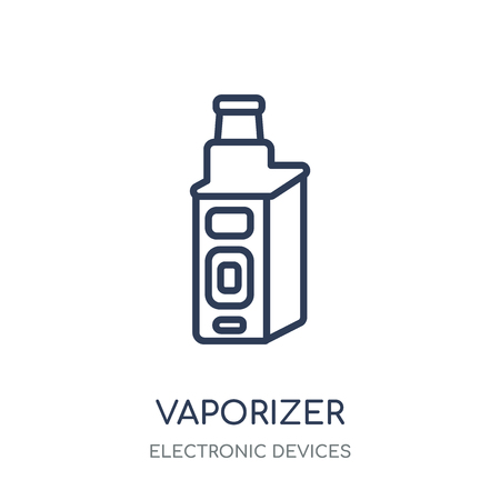 vaporizer icon. vaporizer linear symbol design from Electronic devices collection.