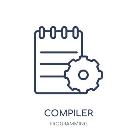 Compiler icon. Compiler linear symbol design from Programming collection. Simple outline element vector illustration on white background.