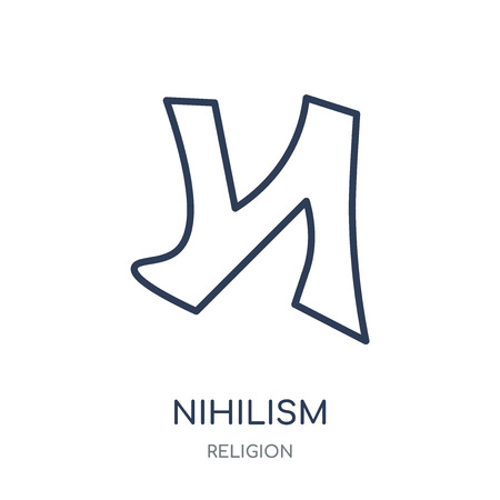 nihilism icon. nihilism linear symbol design from Religion collection. Simple outline element vector illustration on white background. Illustration