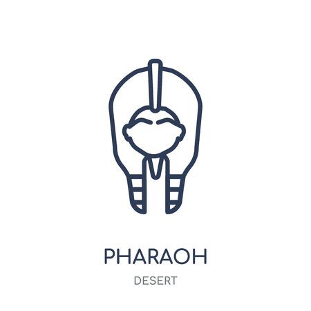 Pharaoh icon. Pharaoh linear symbol design from Desert collection. Simple outline element vector illustration on white background. 向量圖像