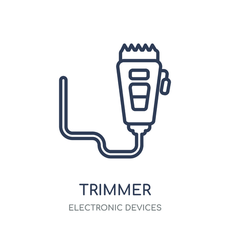 trimmer icon. trimmer linear symbol design from Electronic devices collection.