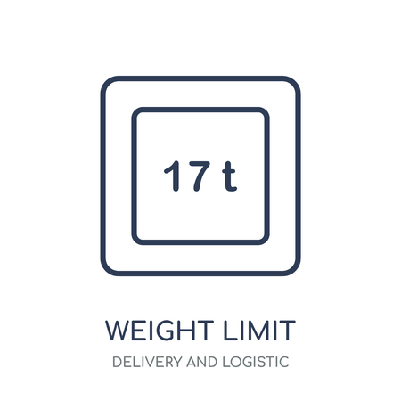 weight limit icon. weight limit linear symbol design from Delivery and logistic collection.