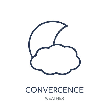 convergence icon. convergence linear symbol design from Weather collection. Simple outline element vector illustration on white background. Ilustrace