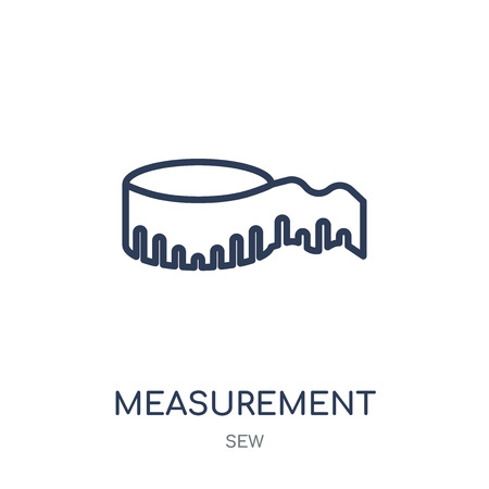 Measurement icon. Measurement linear symbol design from Sew collection. Simple outline element vector illustration on white background.