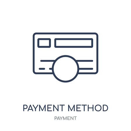 Payment method icon. Payment method linear symbol design from Payment collection. Simple outline element vector illustration on white background.